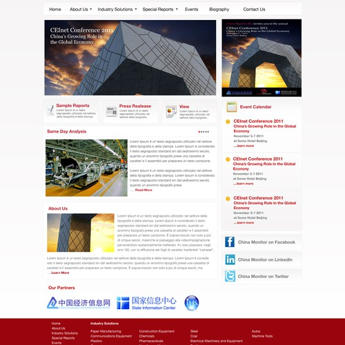 China Monitor ISG needs a new website design