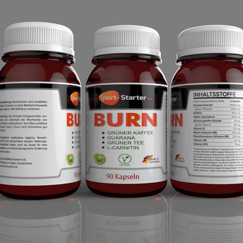 burn label