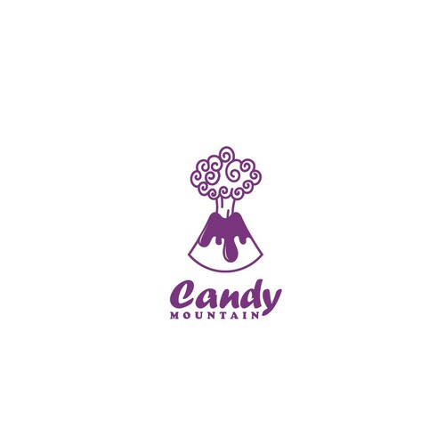 Simple logo concept for candy mountain.