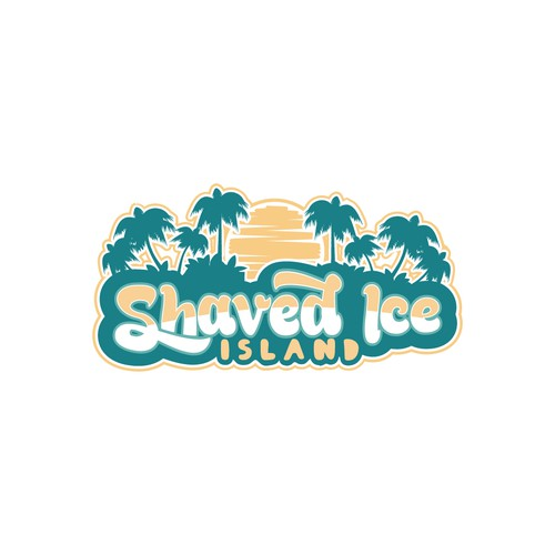 Create a fun, colorful logo for a Hawaiian Shaved Ice business