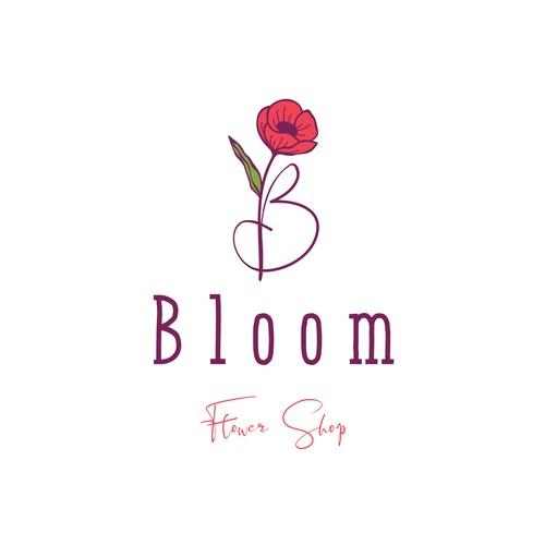 Bloom Flower Shop logo concept
