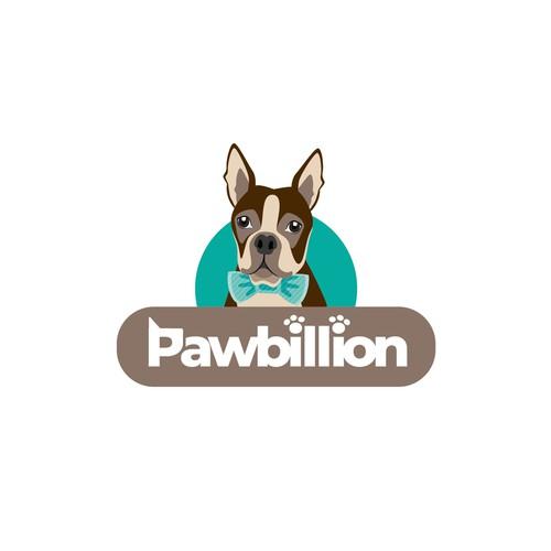 "Logo for a pet grooming salon ""Pawbillion"""