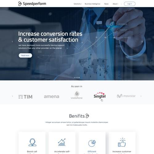 Modern website design for professional website.