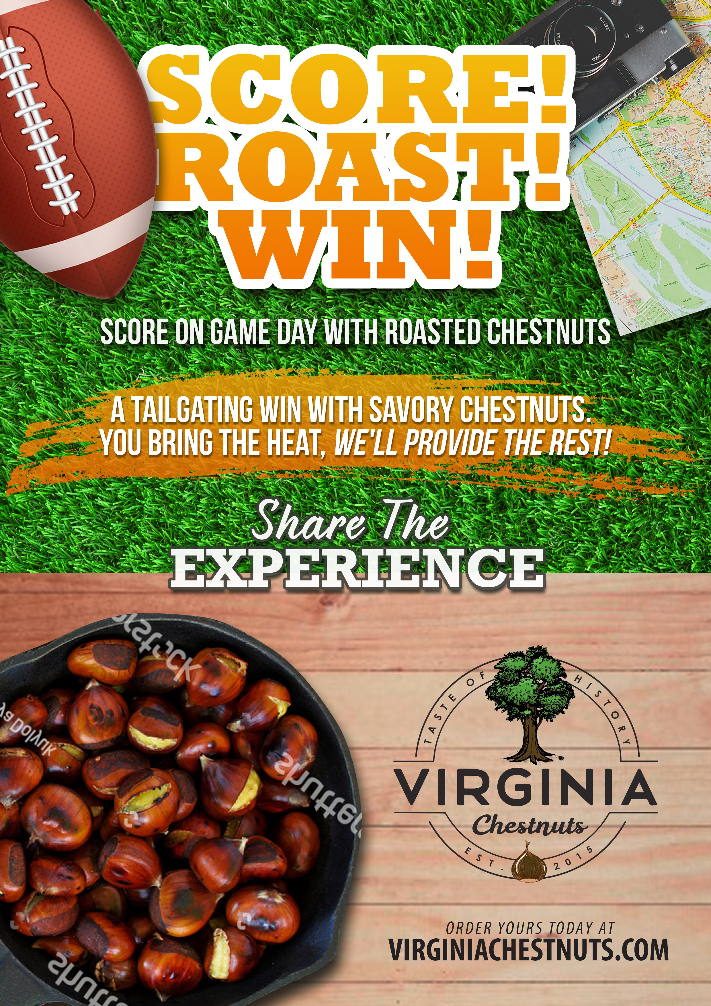 Score!  Roast! Win!  with your design help of course