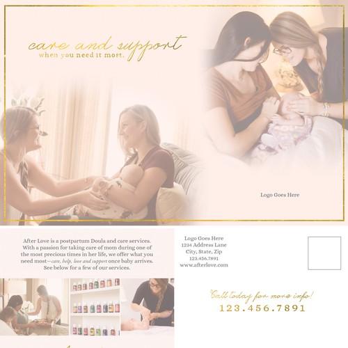 Doula Postcard Design