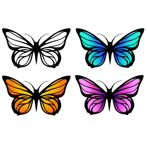 Butterfly, vector illustration