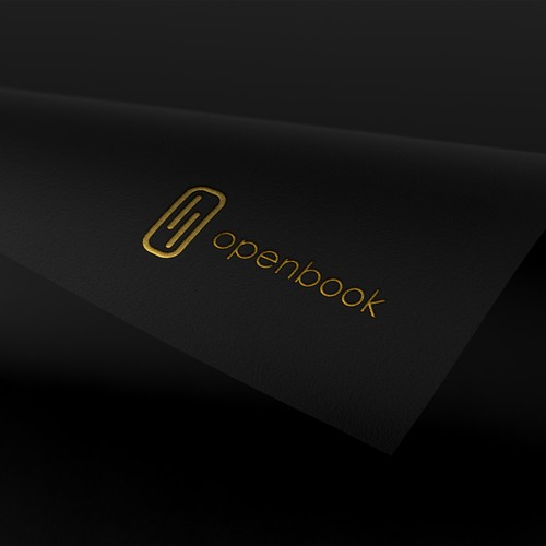 Bold Logo Design concept for openbook