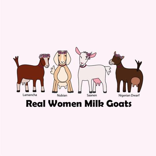 Real women milk goats