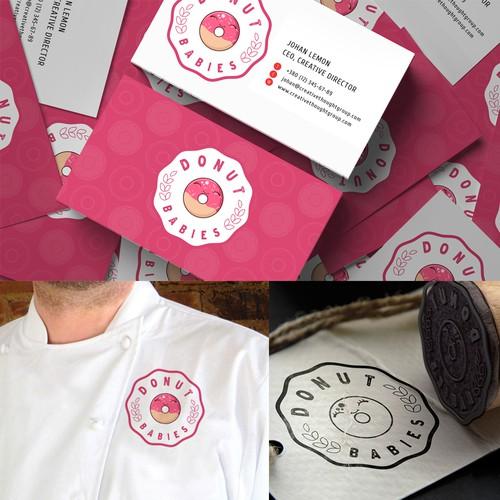 Create a playful, fun, energetic donut/bakery logo.
