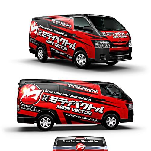 Racing concept van wraps