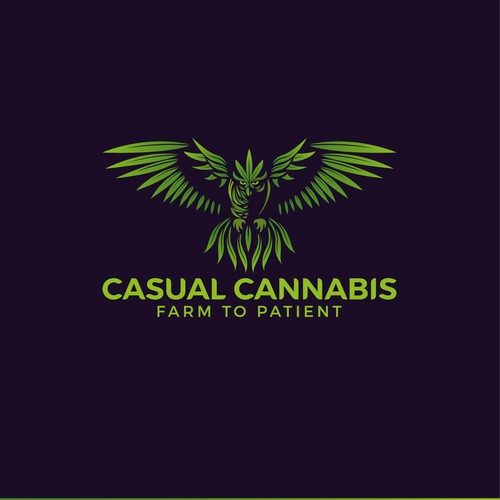 Logo concept for a medical cannabis retailer.