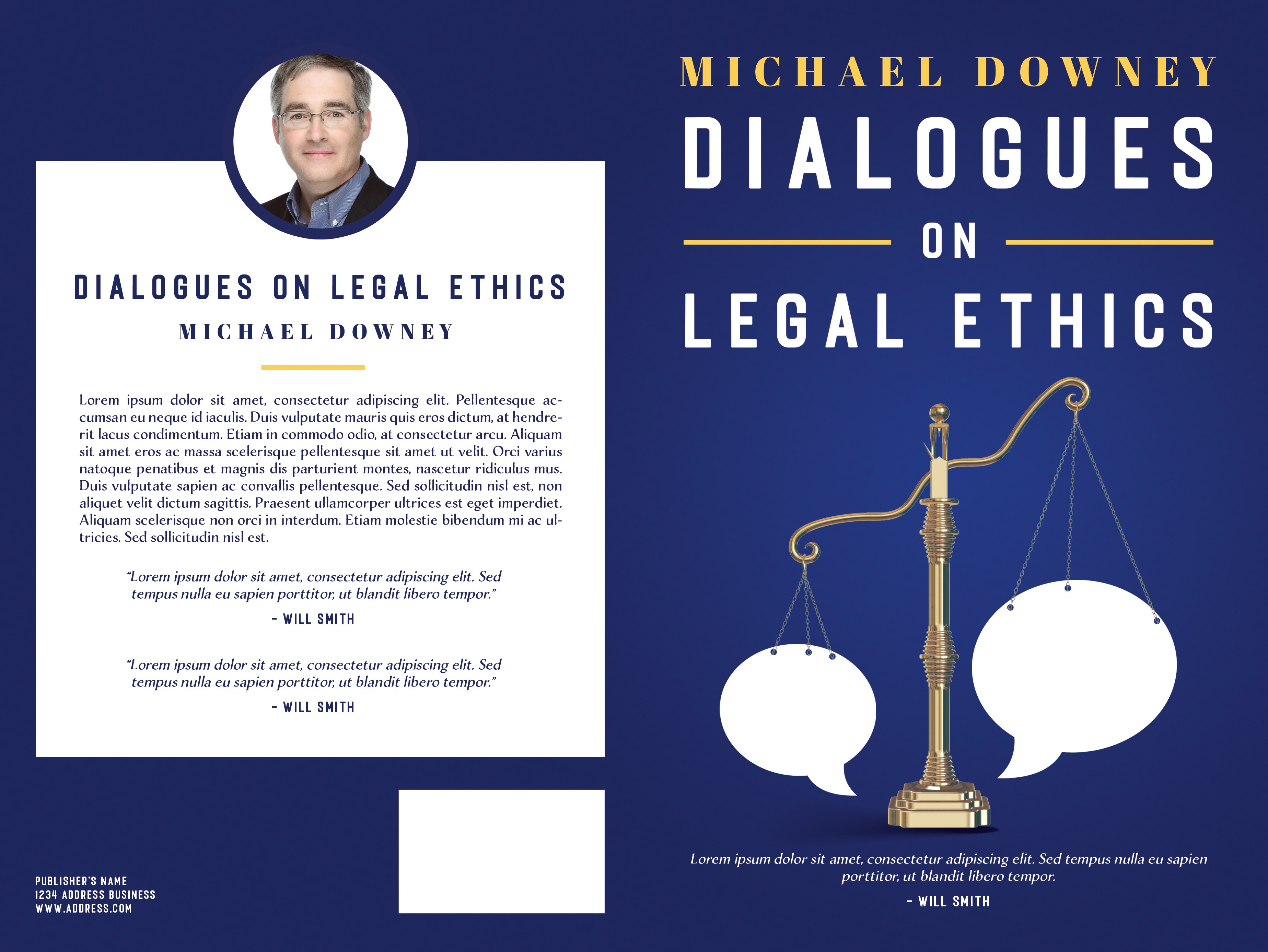"Book cover for ""Dialogues on Legal Ethics"""
