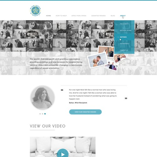 Web-Design proposal for Wish Upon A Wedding