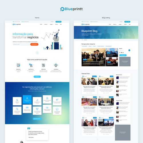 Stunning website for a b2b business information firm
