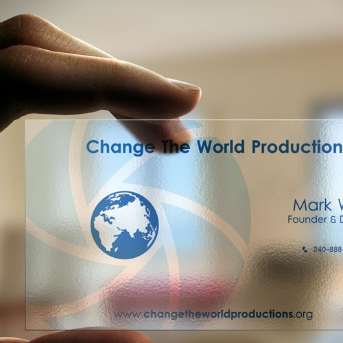 New stationery wanted for Change The World Productions