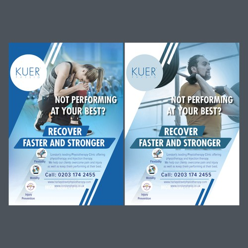 Flyer for body building firm