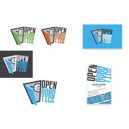 Open Robotics new logo and business card