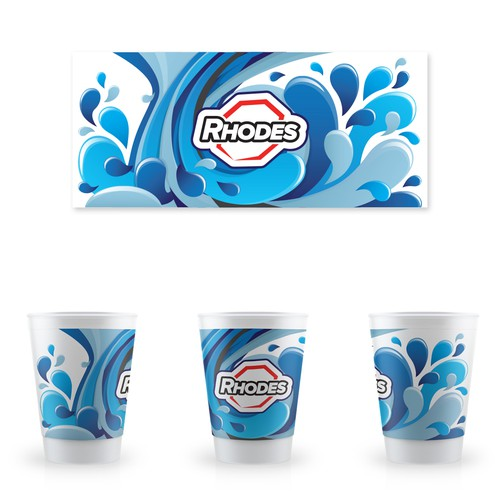 Drink Cup Label Design