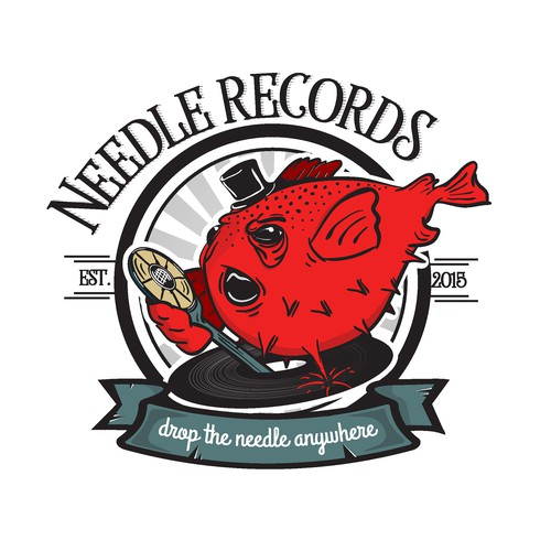 Bold vintage logo concept for the record shop.