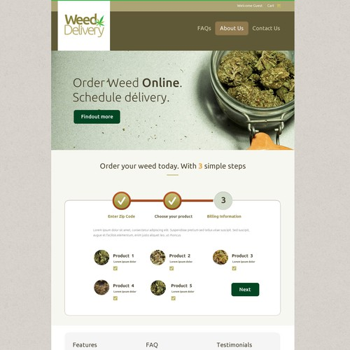 Marijuana Delivery Online Store Store Design Needed