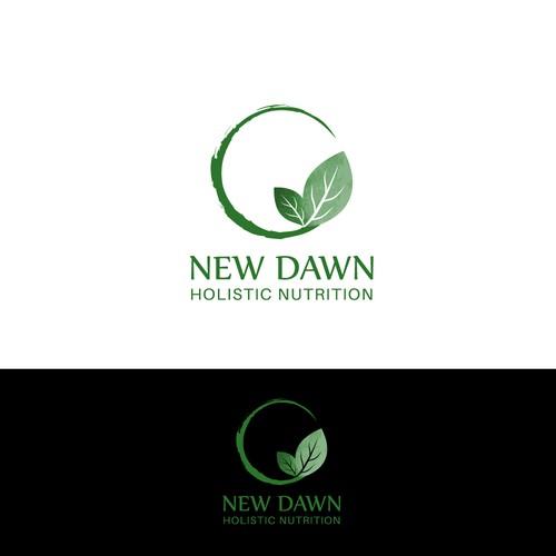 "Winning design for ""New Dawn - Holistic Nutrition""."