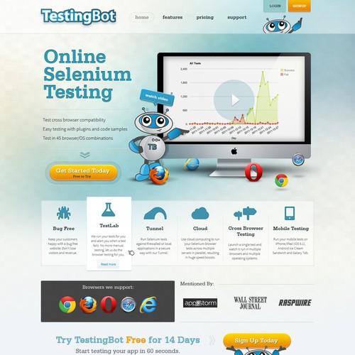website design for TestingBot - Online Browser