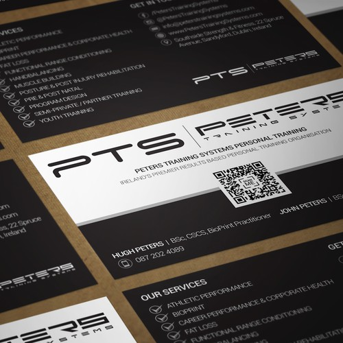 Business card for PTS