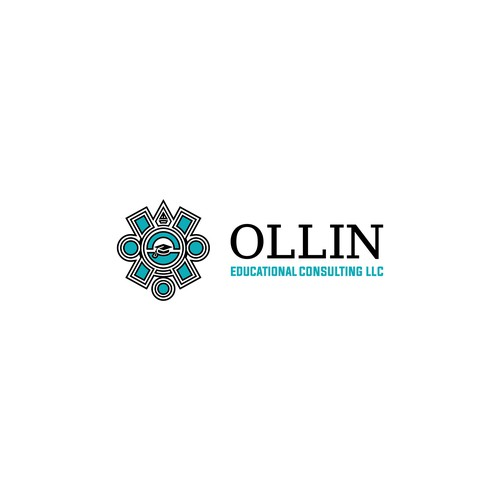 Clean and geometric Logo for OLLIN an Education Consulting