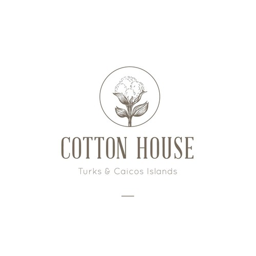 hand drawn logo for cotton house