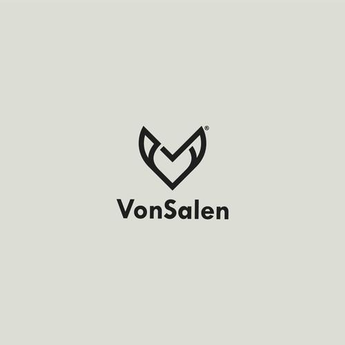 V letter logo for VonSalen