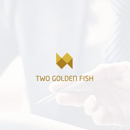 logo for two golden fish