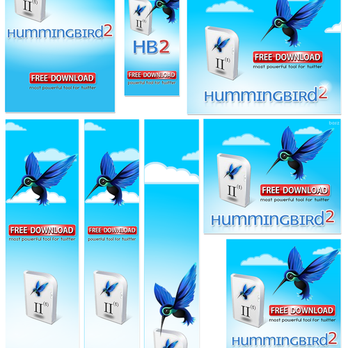 """Hummingbird 2"" - Software release! animated flash banners"