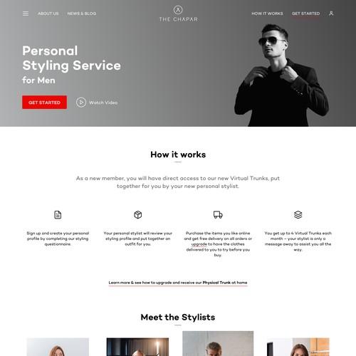 Men's Styling & Retail Website