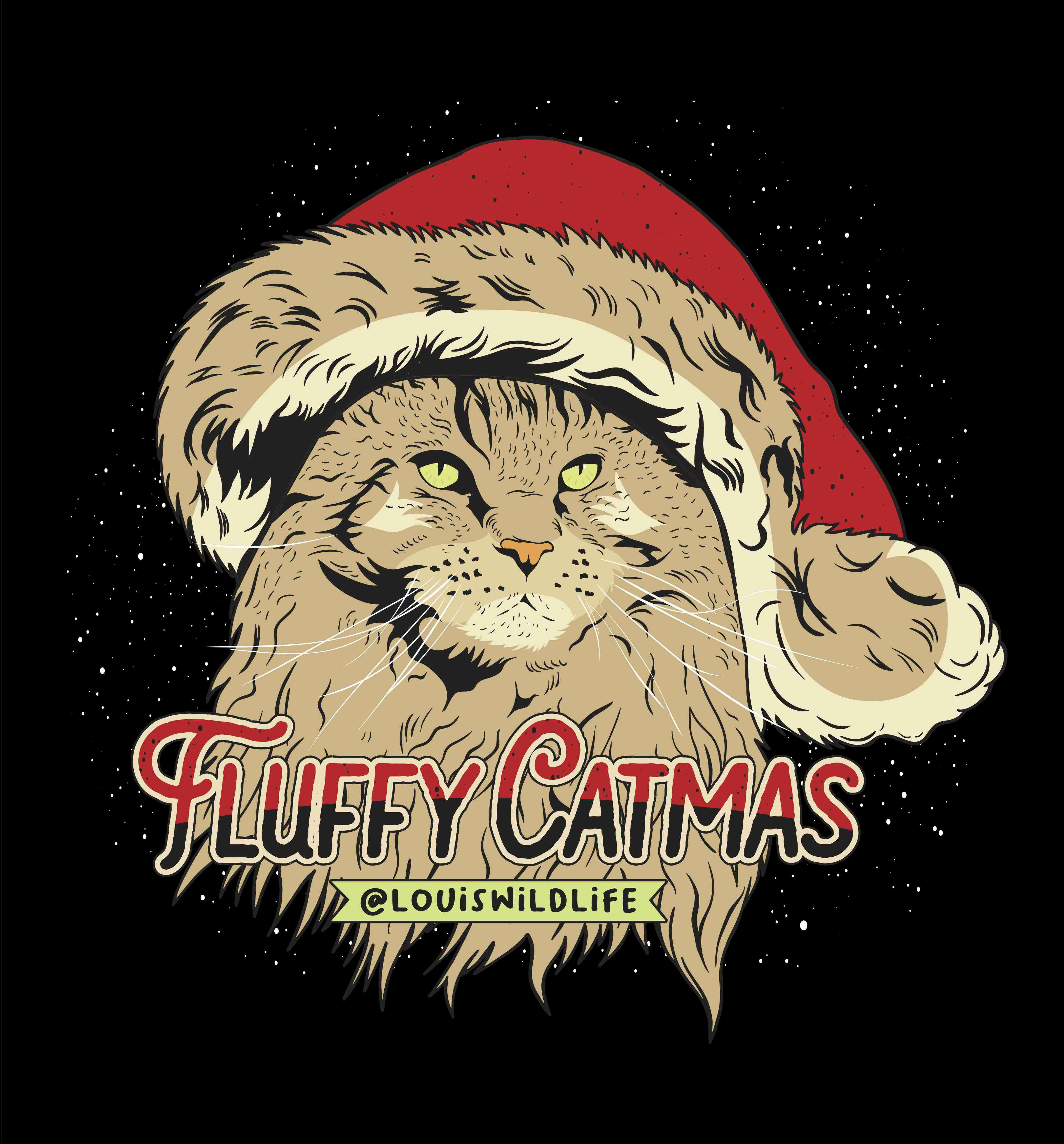 Holiday Tshirt design for famous cat
