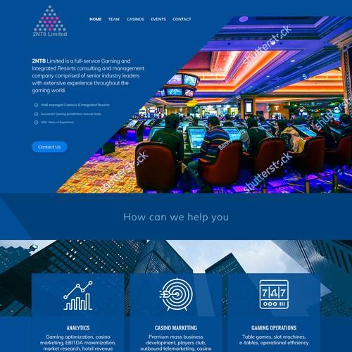 Web design for a casino management company