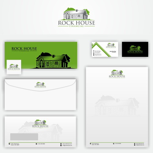 our iconic rock house built in 1880 needs a logo design