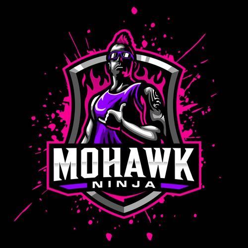 mohawk mascot logo