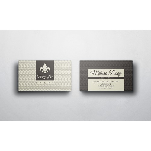 Professional Law Firm Business Card