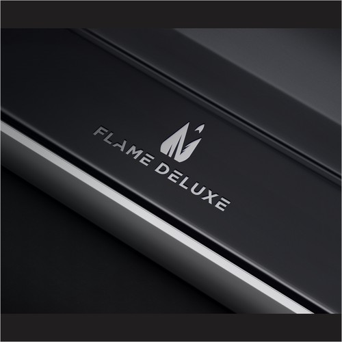 Minimalist logo for FLAME DELUXE