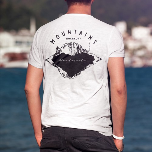 T-shirt design for a hotel in the mountains