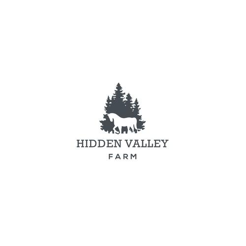 Logo design for a  horse farm