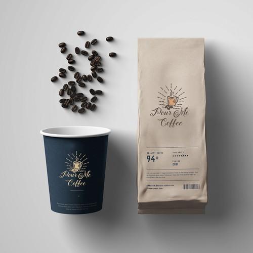 Street Coffee Shop Logo