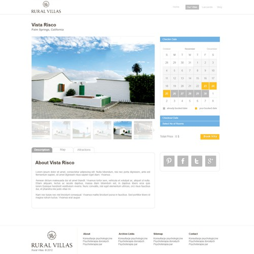 Web Design For Rural Villas