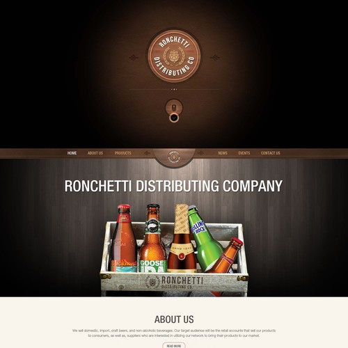 Home Page Design For Ronchetti Distributing Company