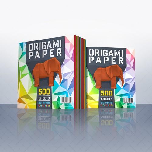 Origami Paper Label Design