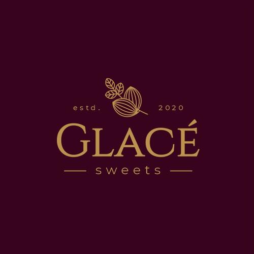 Glace Sweets Chocolate Shop Logo