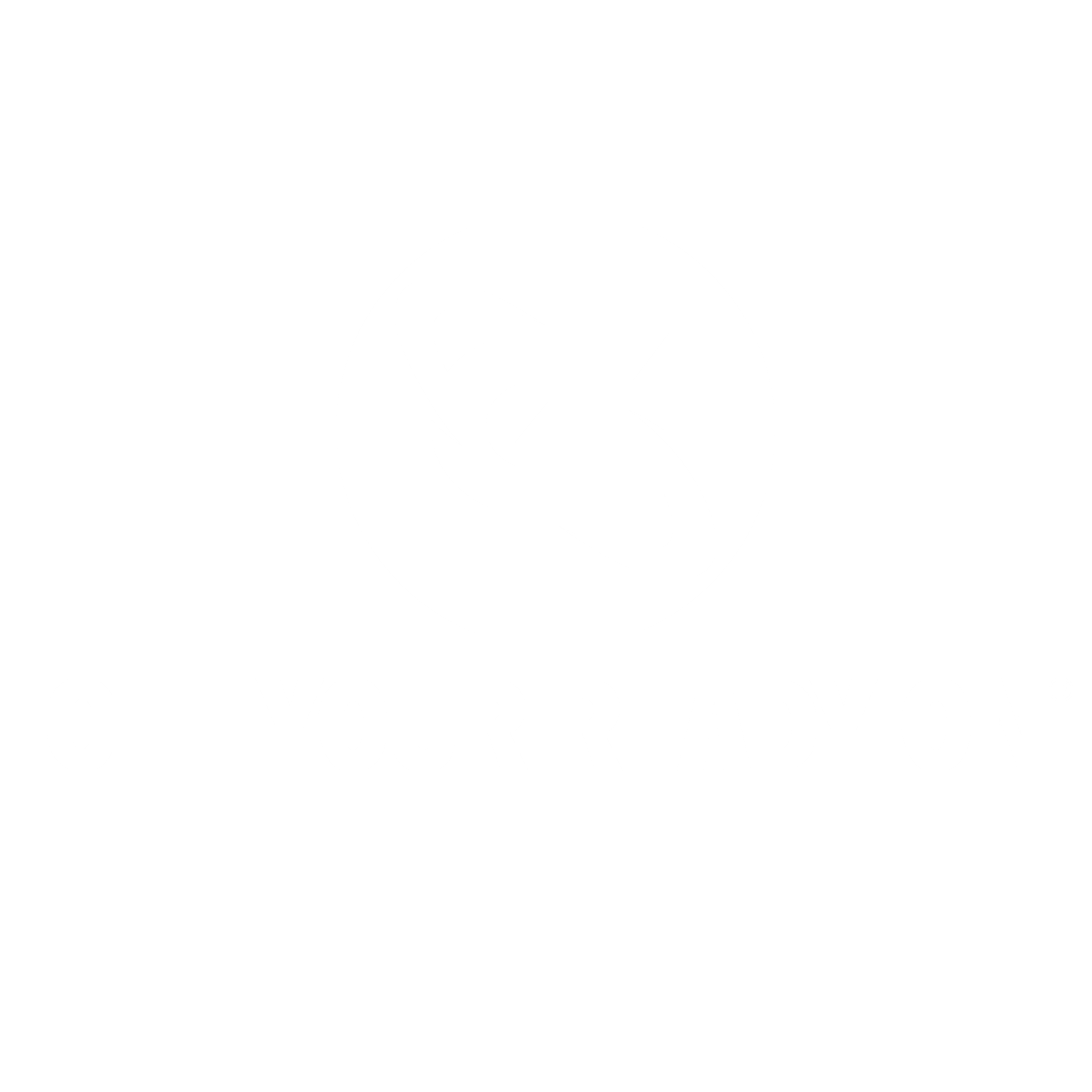 G icon in a black circle with Get Your Ready On underneath - Transparent Background