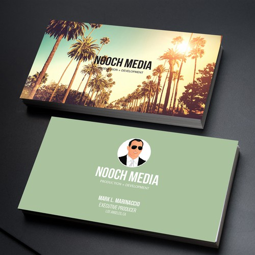 Business card for media professional