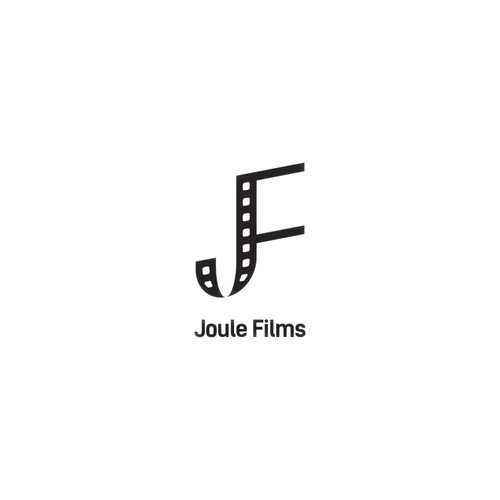 Initials logo concept for movie production company