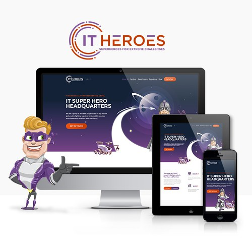 Website design for IT agency